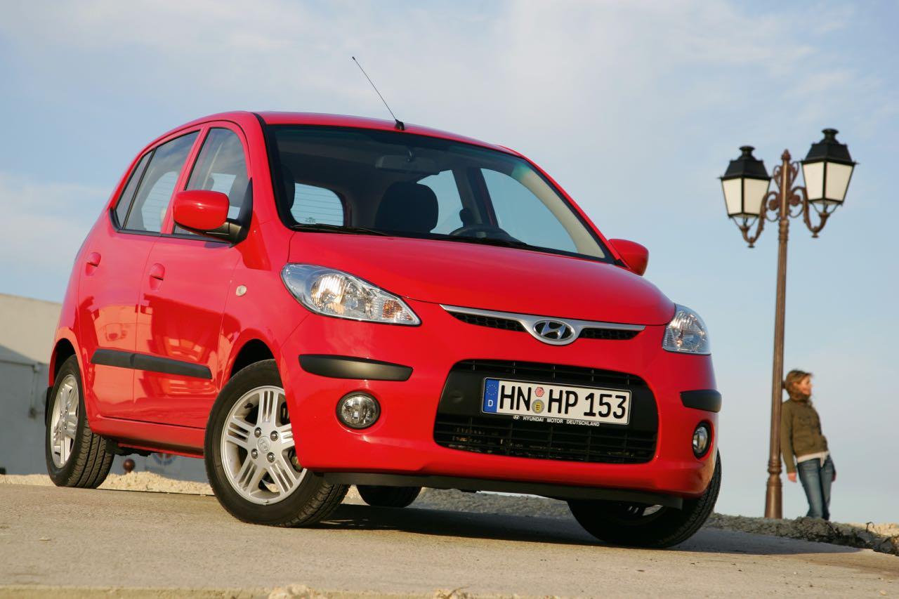 Hyundai i10 2008 rojo