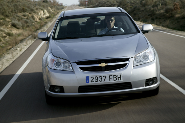 Chevrolet Epica gris vista frontal