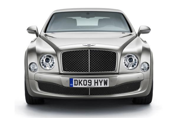 Bentley Mulsanne gris frontal