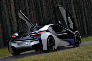 BMW Vision EfficientDynamics puertas biertas