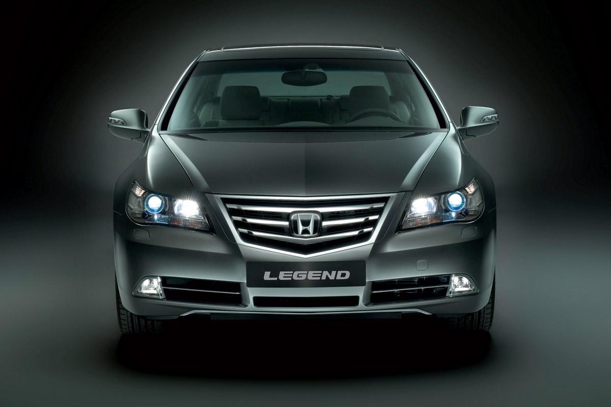 Honda Legend 2007 negro vista frontal