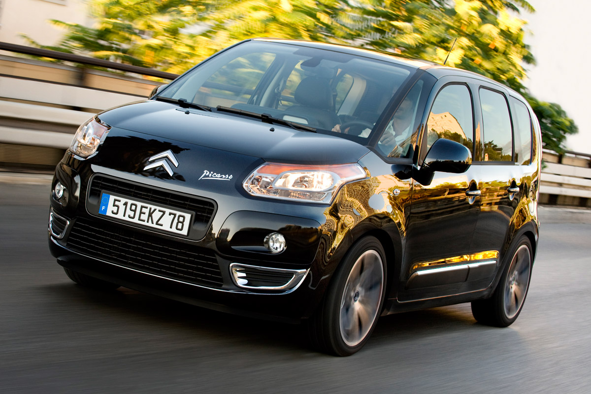 Citroën C3 Picasso negro frontal