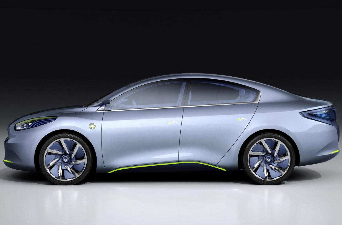 Renault Fluence Zero Emission Concept estático lateral