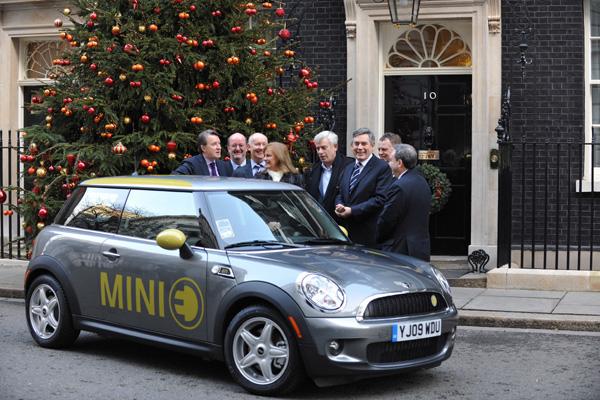 MINI E en Downing Street