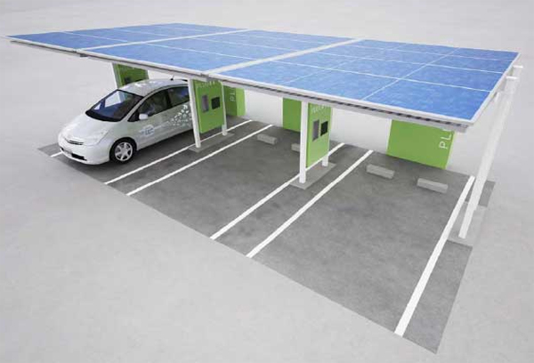 Nuevas estaciones solares de recarga para el Prius