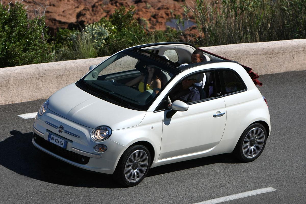 Fiat 500C acción