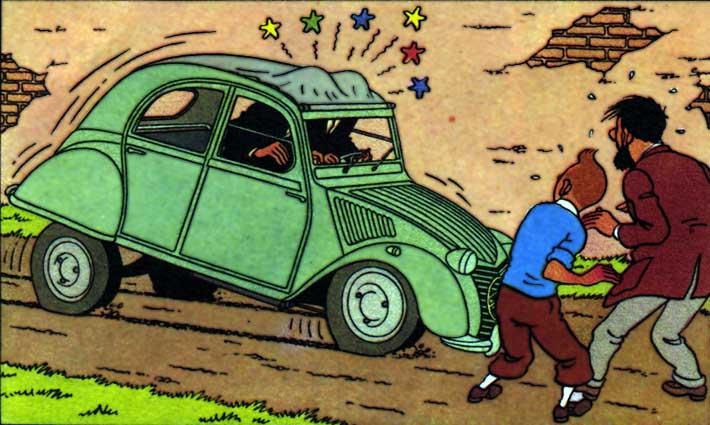 Los coches en los c mics i - Dessin 2cv humour ...