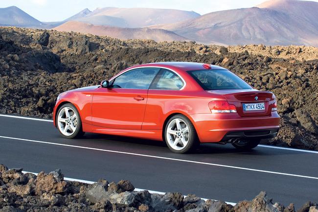 BMW Serie 1 Coupé vista en acción