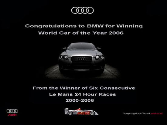 Audi felicita a BMW