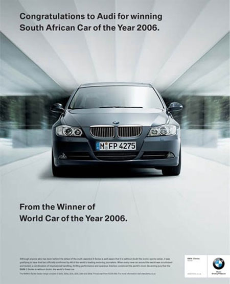 BMW felicita a Audi