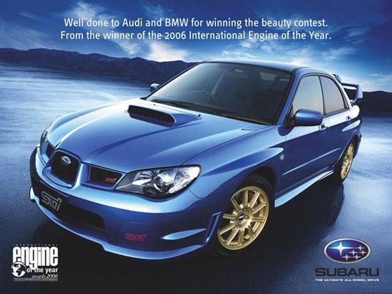 Subaru felicita a Audi y BMW