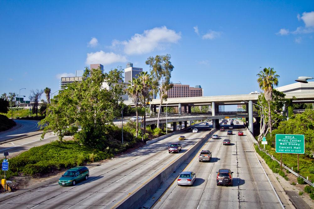 Los Ángeles con coches