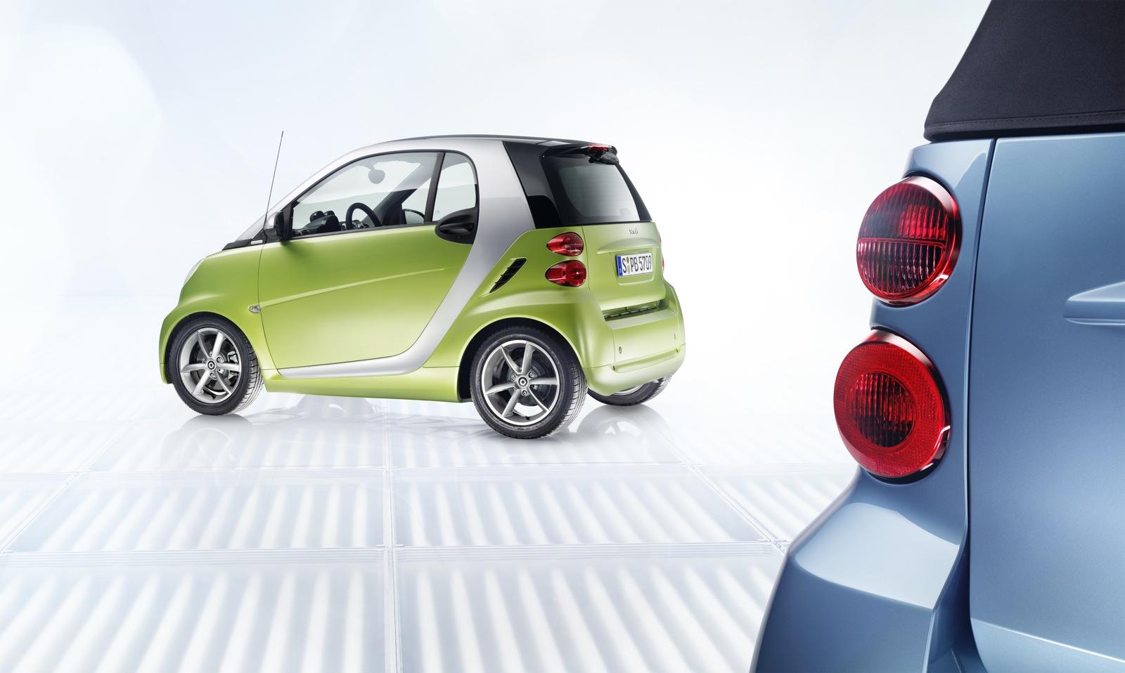 smart fortwo 2010 verde