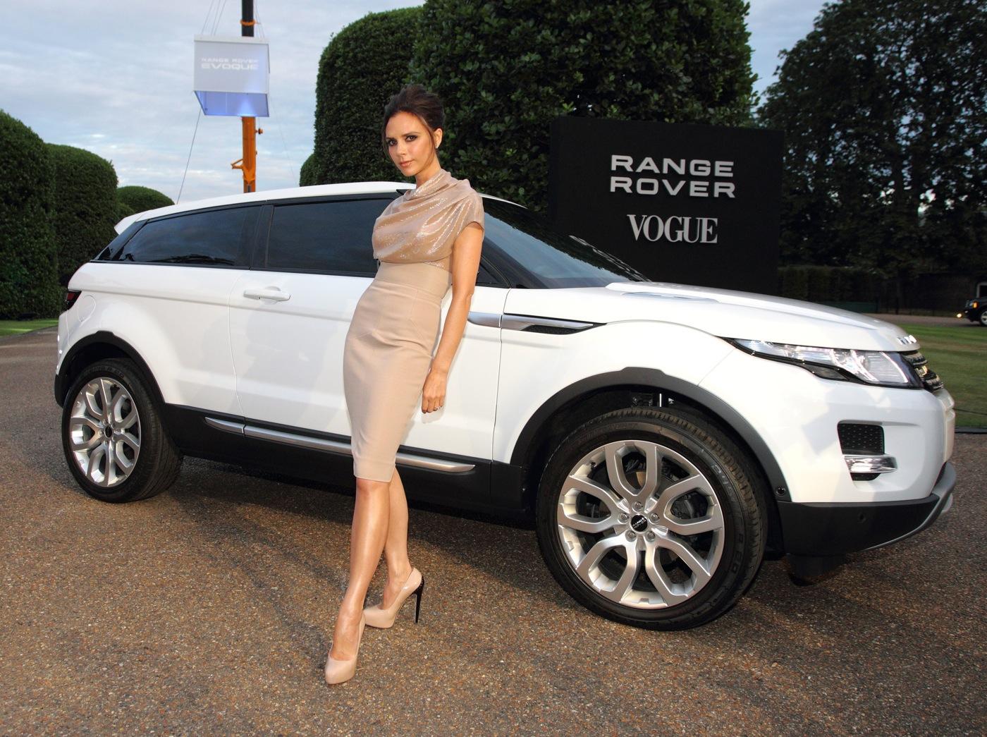 Victoria Beckam en la presentación del Range Rover Evoque