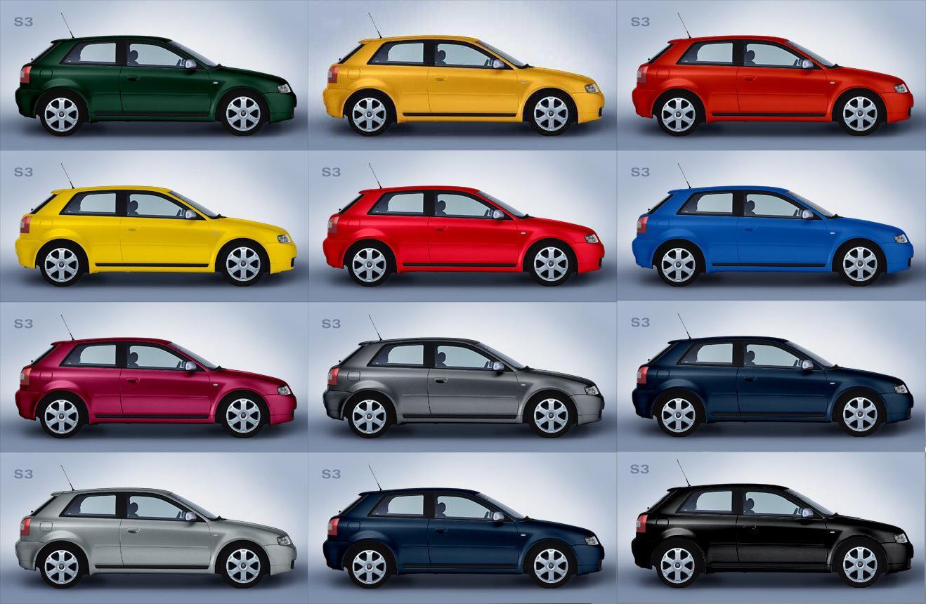 Elegir el color para el coche for Gama de colores vivos