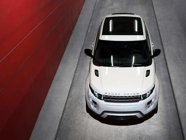 Range Rover Evoque 2011 vista cenital
