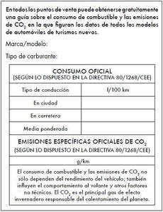 Etiqueta energética obligatoria