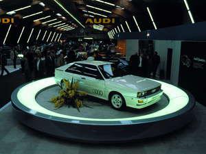 Audi quattro presentado en el Salón del Automóvil de Ginebra de 1980