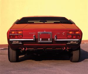 Trasera de Lamborghini Urraco de 1972