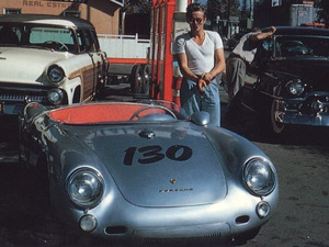 James Dean con su modelo personalizado.