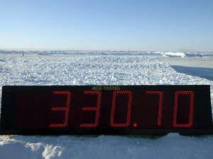 Increíble la velocidad alcanzada en el hielo del mar Báltico