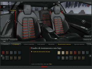Puedes elegir el tejido de los asientos...