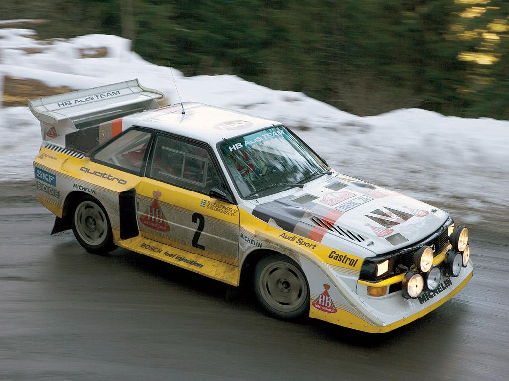 Resultado de imagen de Audi Quattro rally car (1981-1986)