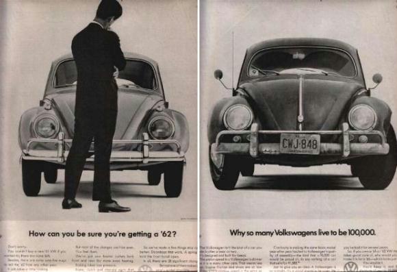 Volkswagen Beetle, anuncios de un clásico único
