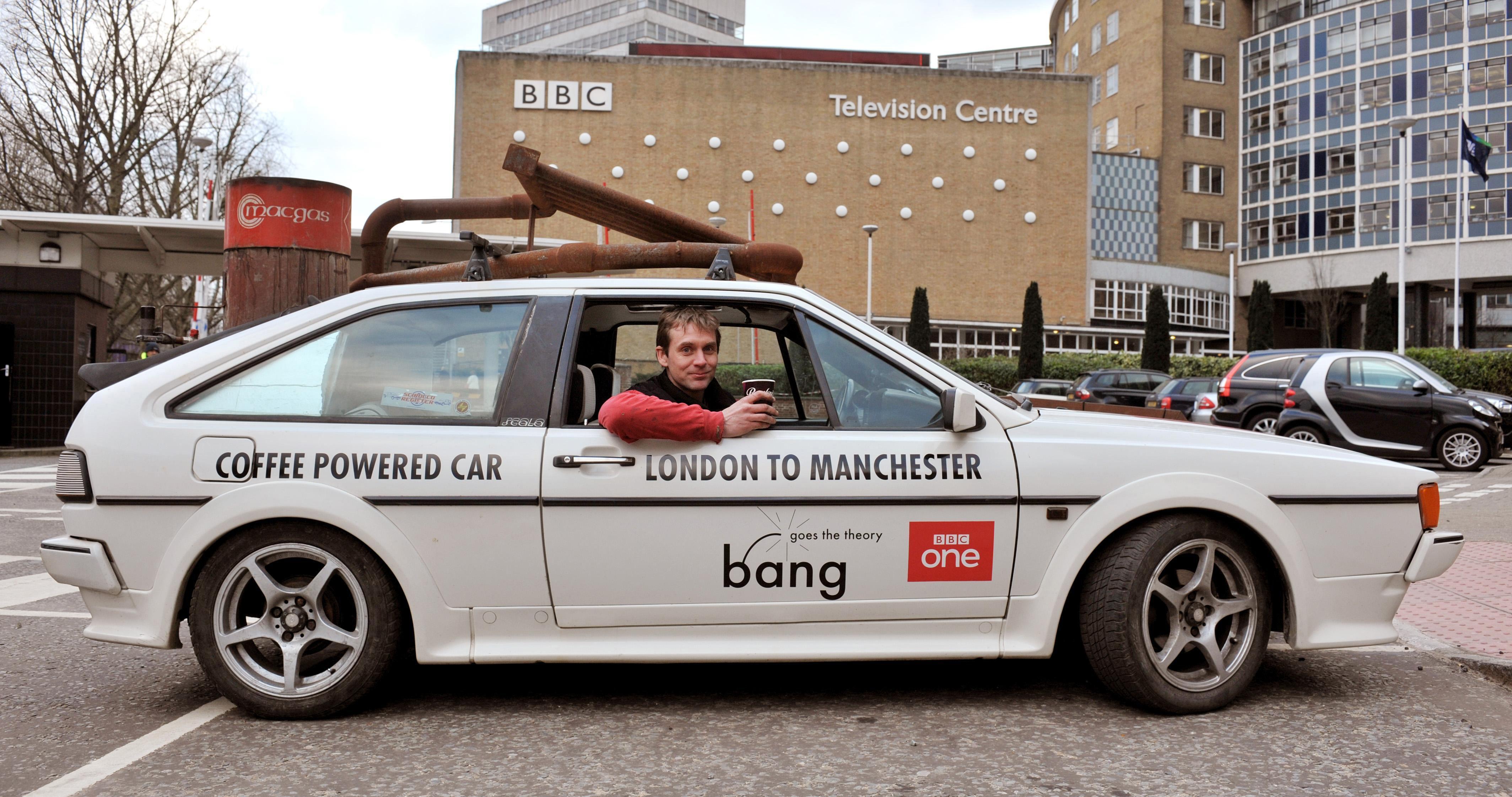 Coffee powered car