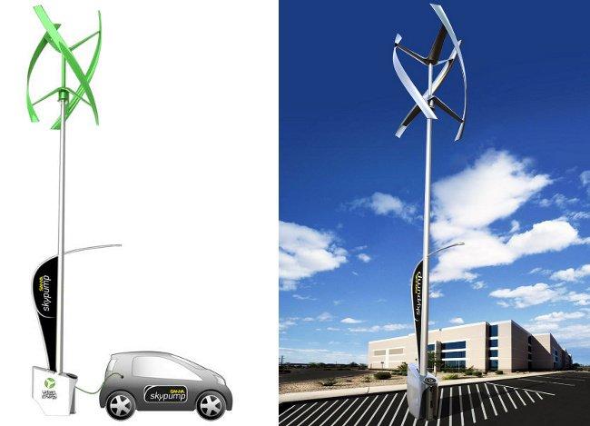 electrolinera eolica sanya skypump