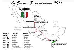Mapa de la edición 2011 de la Carrera Panamericana