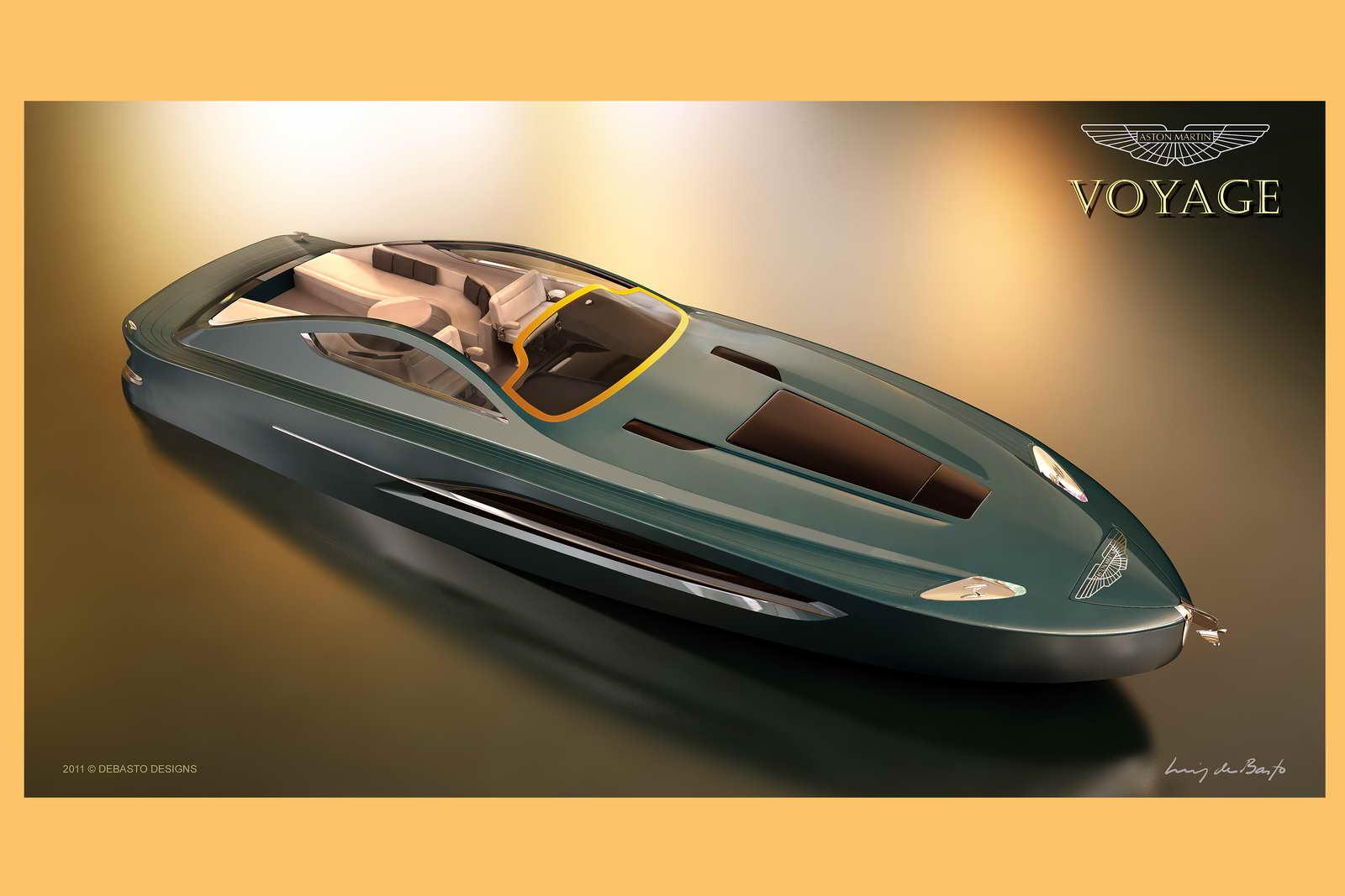 Aston Martin Voyage 55. ¿El yate de James Bond?