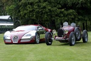 Podremos admirar modelos fabricados entre los años 1920 y 1938 al lado del impresionante Bugatti Veyron