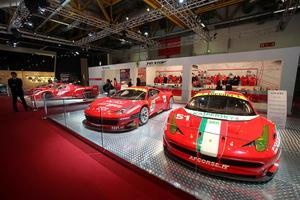 El stand en el Motor Show de Bolonia estaba totalmente dedicado a las actividades en competición de la marca