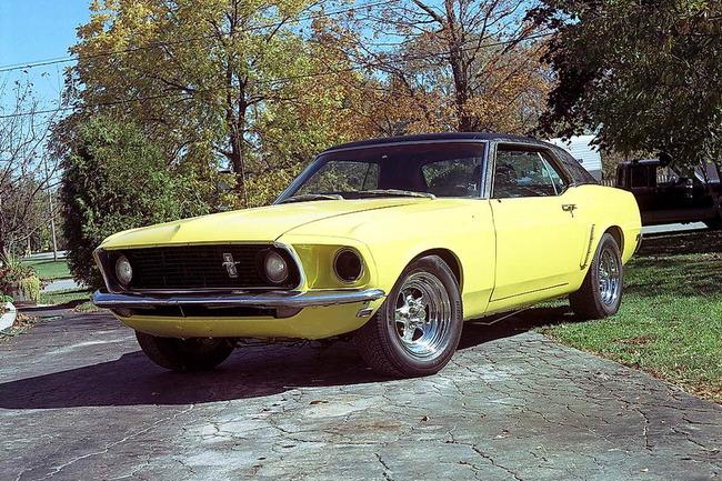 Ford Mustang del 69 sobre el que se ha basado Jonathan Brand para realizar su trabajo