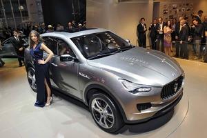 El Maserati Kubang durante su presentación en el Salón de Frankfurt