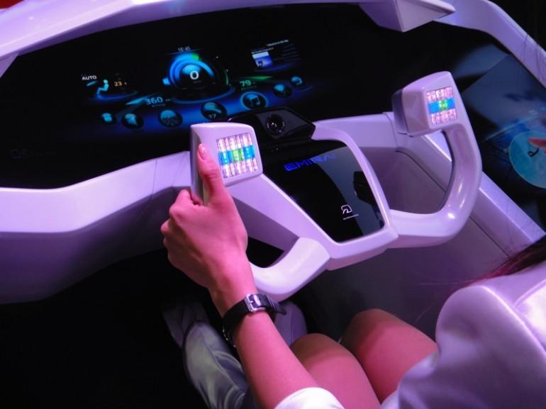Mitsubishi EMIRAI concept automotive interface 4