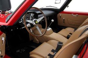 Interior del Ferrari 250 GTO: una reproducción exacta, a escala, del modelo original