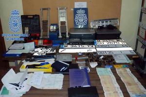 Parte del material incautado por las fuerzas de seguridad en esta operación
