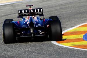 Esto es lo único que ven sus rivales del Red Bull conducido por Vettel