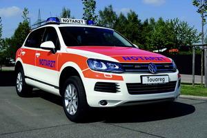 Volkswagen Touareg equipado como vehículo médico