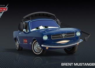 Los coches de los personajes de Cars 2 Brent-Mustangburger-Cars-2-Characters-1024x576-650x365