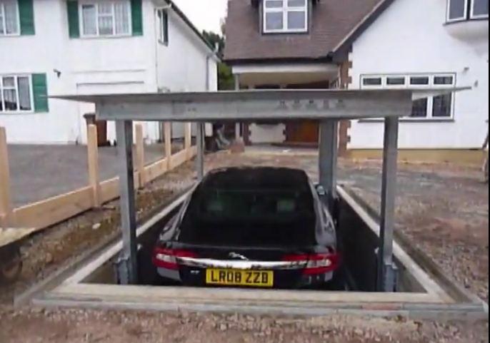 aparcamiento oculto