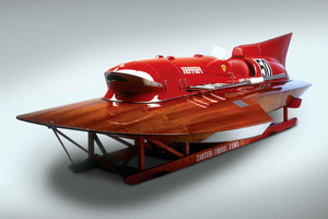 """El diseño del """"Arno XI"""" utilizaba una configuración de doble casco que se mostró tremendamente rápida"""