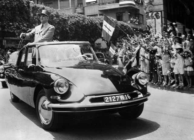 Citroën DS DE 1958. De Gaulle