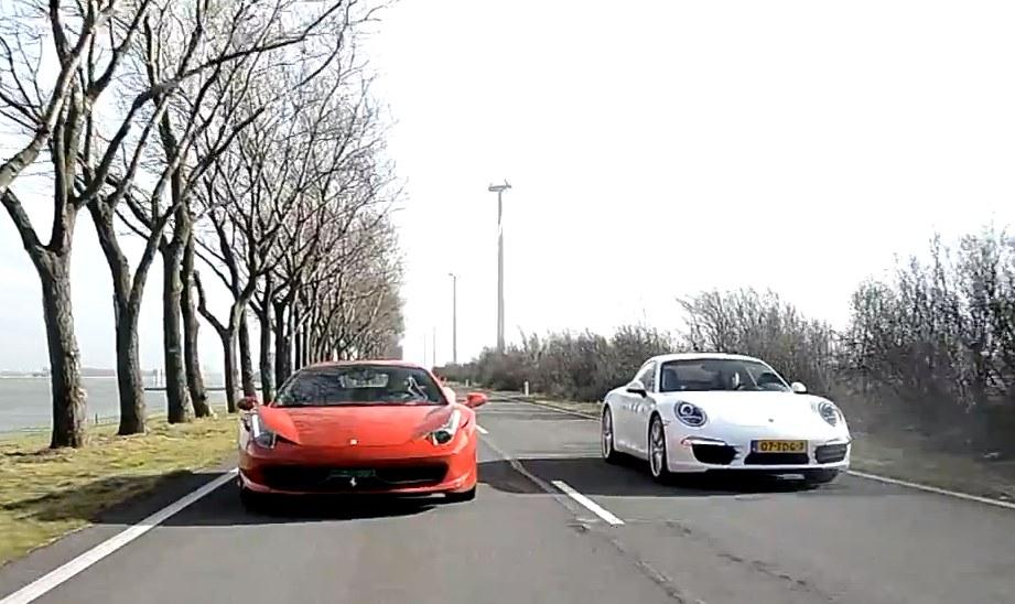 Porsche Carrera S VS Ferrari 458 Italia