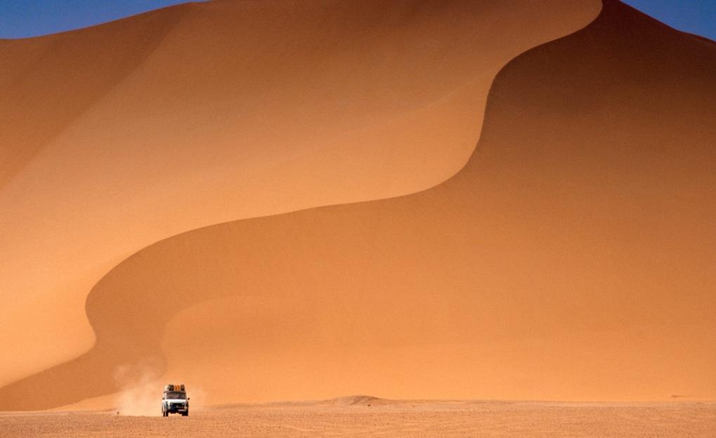 coche desierto