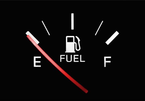 indicador gasolina vacio