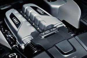 Poderoso motor, que en el Audi R8 V10 plus llega hasta los 550 CV