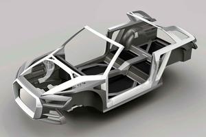 """El """"Multimaterial Space Frame"""" (MSF) combina el aluminio, el plástico reforzado con fibra de carbono (CFRP) y el plástico reforzado con fibra de vidrio (GFRP)"""